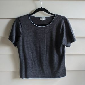 Wool crew neck top- dark academia